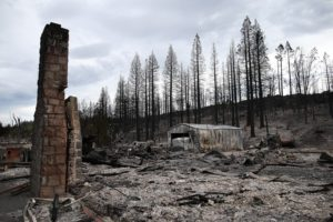Wildfire burned home